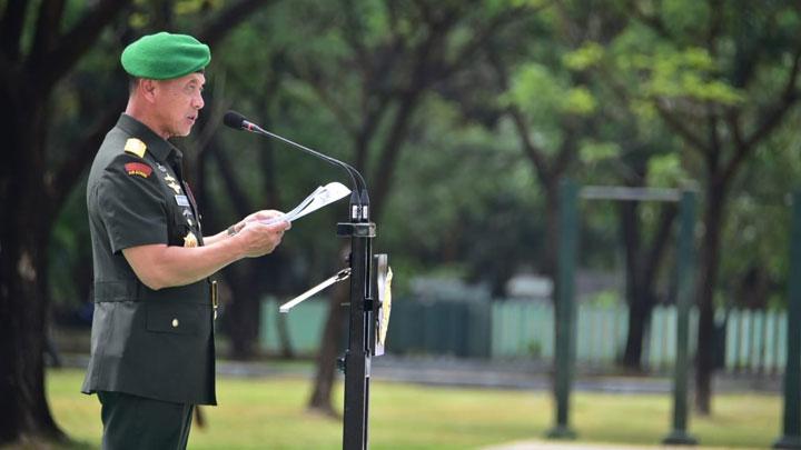 Kasad Jenderal TNI Mulyono :  Proyeksi Kekuatan Kostrad Mengatasi 3 Trouble Spot