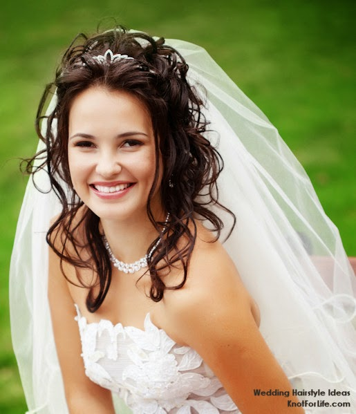 Long Hair Wedding Hairstyles Down: Wedding Hairstyles For Long Hair Down With Veil