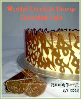 Marbled Chocolate Orange Celebration Cake