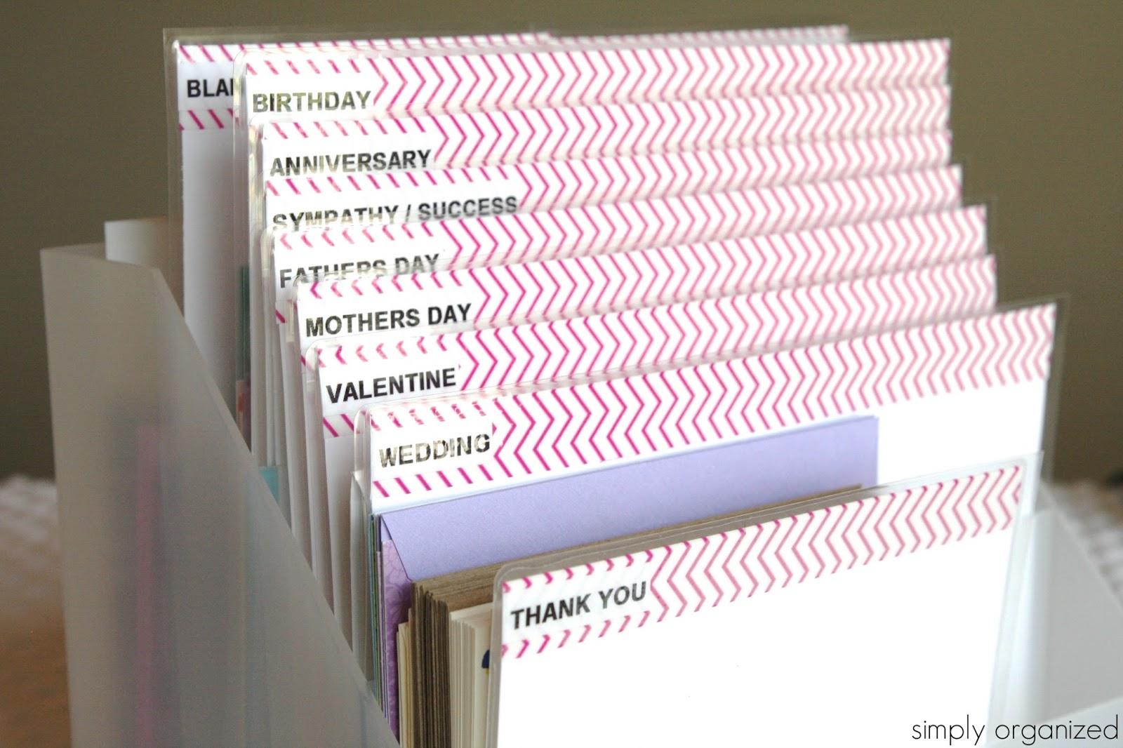Diy Greeting Card Organizer Simply Organized