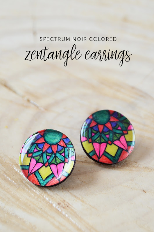 Spectrum Noir Colored Zentangle Earrings at Crafts Unleashed
