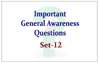List of Expected General Awareness Questions for Upcoming IBPS RRB/PO and Insurance Exams 2015 Set-12