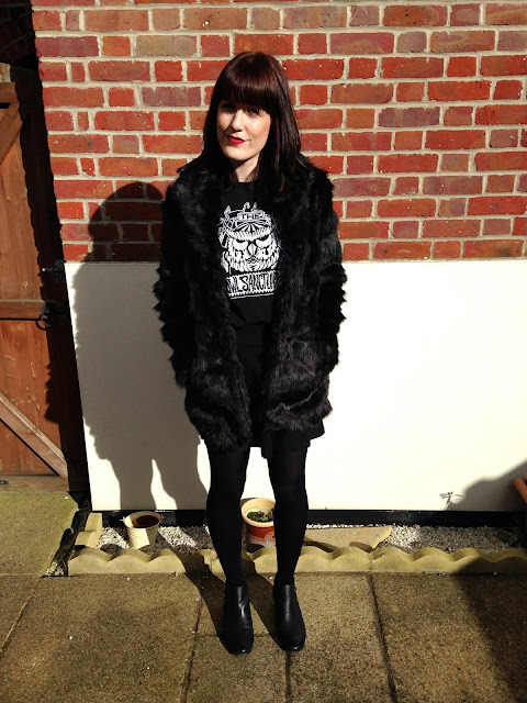 OOTD Faux Fur Rock n Roll
