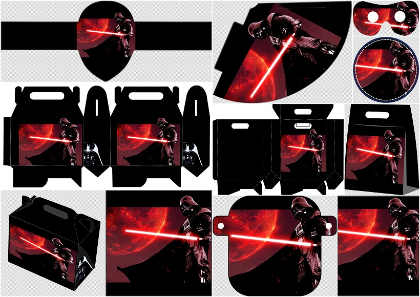 image relating to Darth Vader Printable identified as Star Wars, Darth Vader: Totally free Printable Bash Package. - Oh My