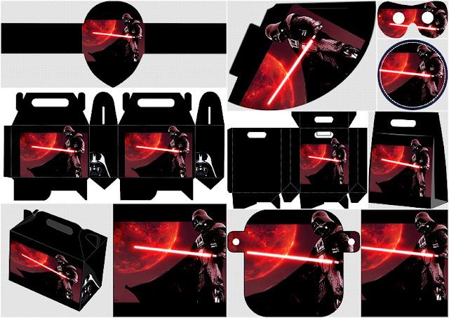 Darth Vader de Star Wars: Kit para Fiestas de Cumpleaños para Imprimir Gratis.