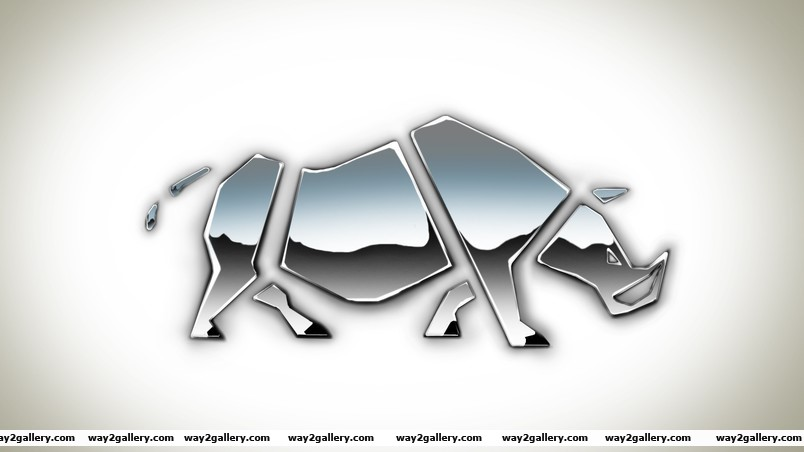 Rhino shape wallpaper