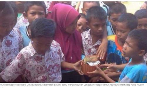 Murid SD di Barru Kumpulkan Uang Jajan untuk Rohingya