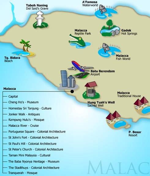 Senarai Lokasi Menarik Di Melaka