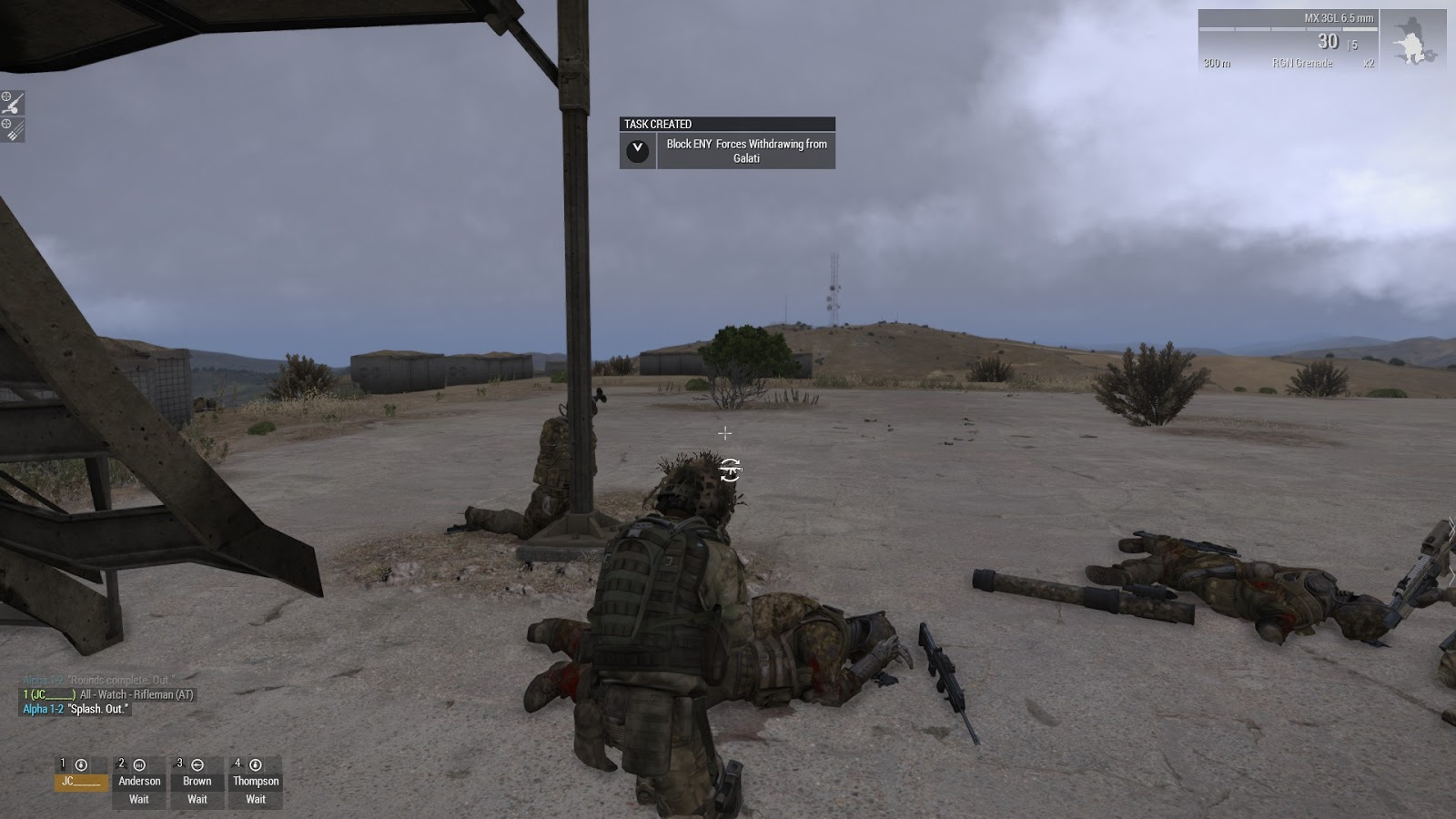 Real and Simulated Wars: Arma 3 Mission - Blocking Position