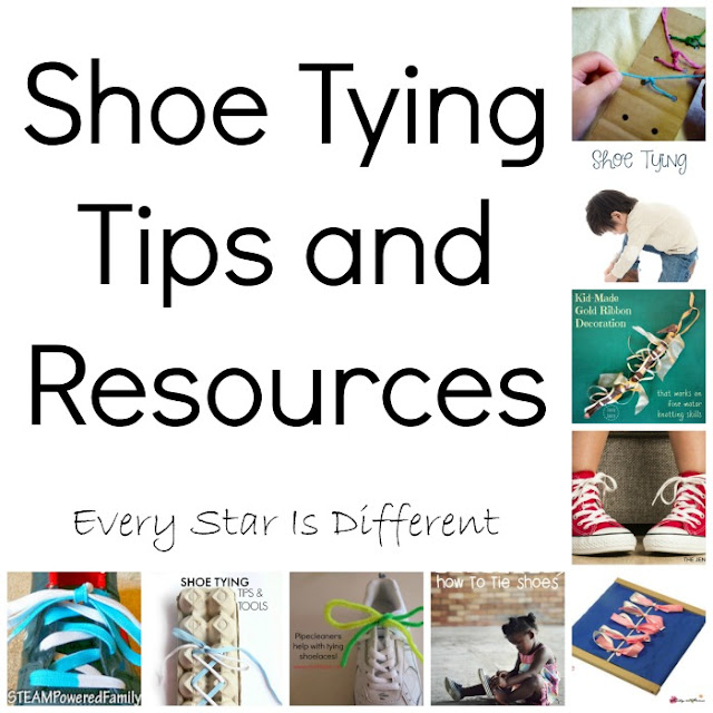 Shoe tying tips and resources