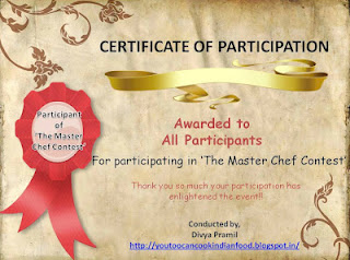Second Prize n Awards in The Master Chef Contest | Diva Likes