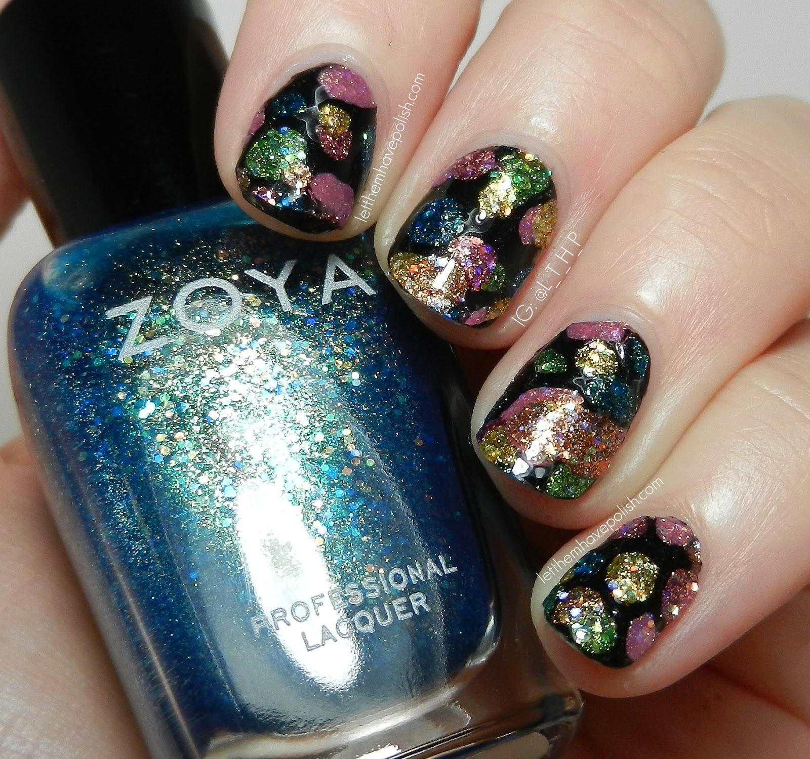 Bubble Nail Art: Let Them Have Polish!: Zoya Bubbly Bubbles Nail Art