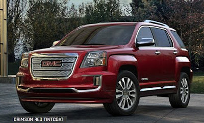 2016 GMC Terrain popular mid-size crossover crimson red Tintcoat color