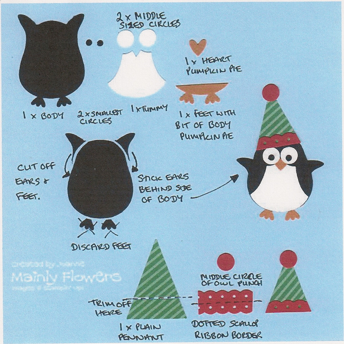 Flower Sparkle: Penguin On A Spring Christmas Card - 52 {C}CT Apr ...