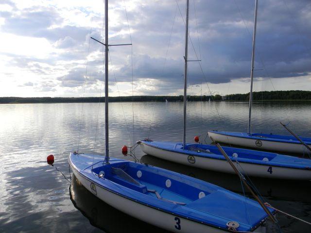 łodzie, żagle, Niesulice, woda