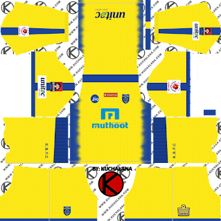 Kerala Blasters FC 2018 Kit - Dream League Soccer Kits