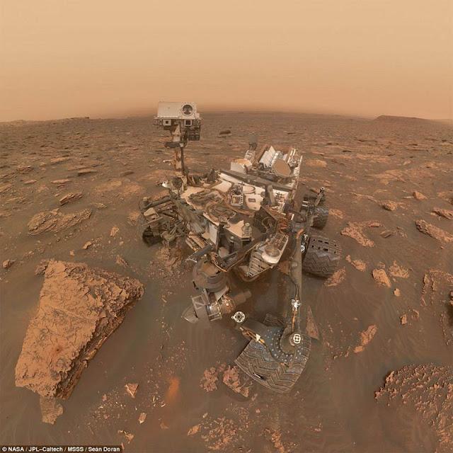 Rover Curiosity tira selfie durante tempestade de poeira em Marte - NASA