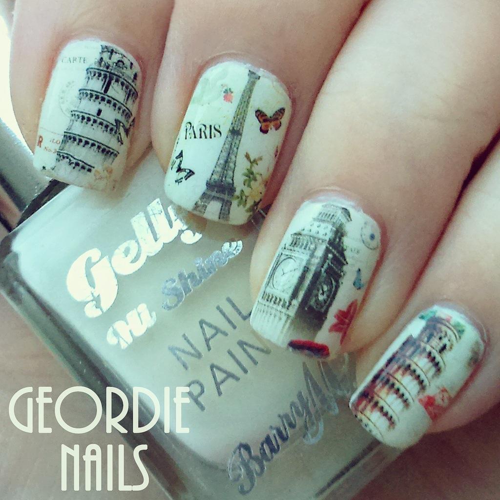 Geordie Nails: European Postcard Manicure