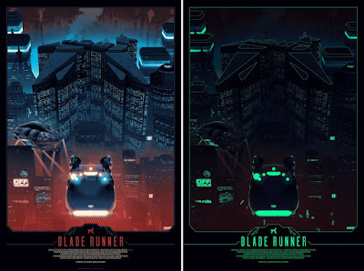 Blade Runner Glow in the Dark Movie Poster Screen Print by Matt Ferguson x Bottleneck Gallery