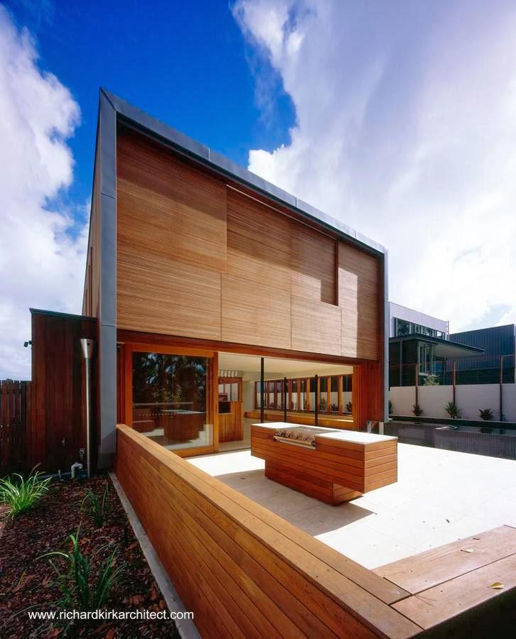 Residencia contemporánea australiana hecha de madera