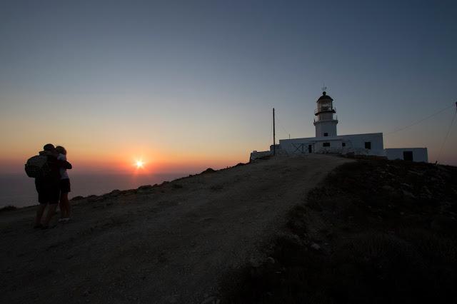 Tramonto al Faro di Armenistis-Mykonos