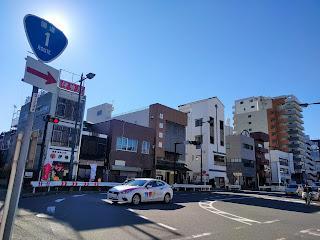 小田原城近くの道路