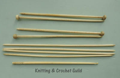 Vintage knitting needles; vintage crochet hook; bone; 1920s