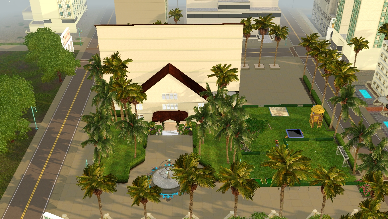 Sims 3 Functional Community Lot School