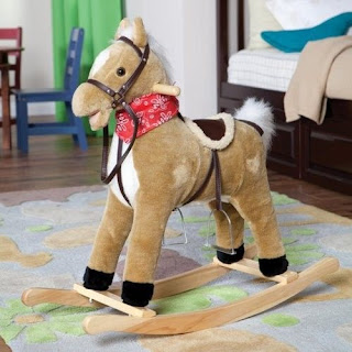 Plush toddler horse