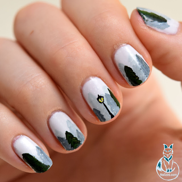 Winter Wonderland Narnia Nail Art Nailzini