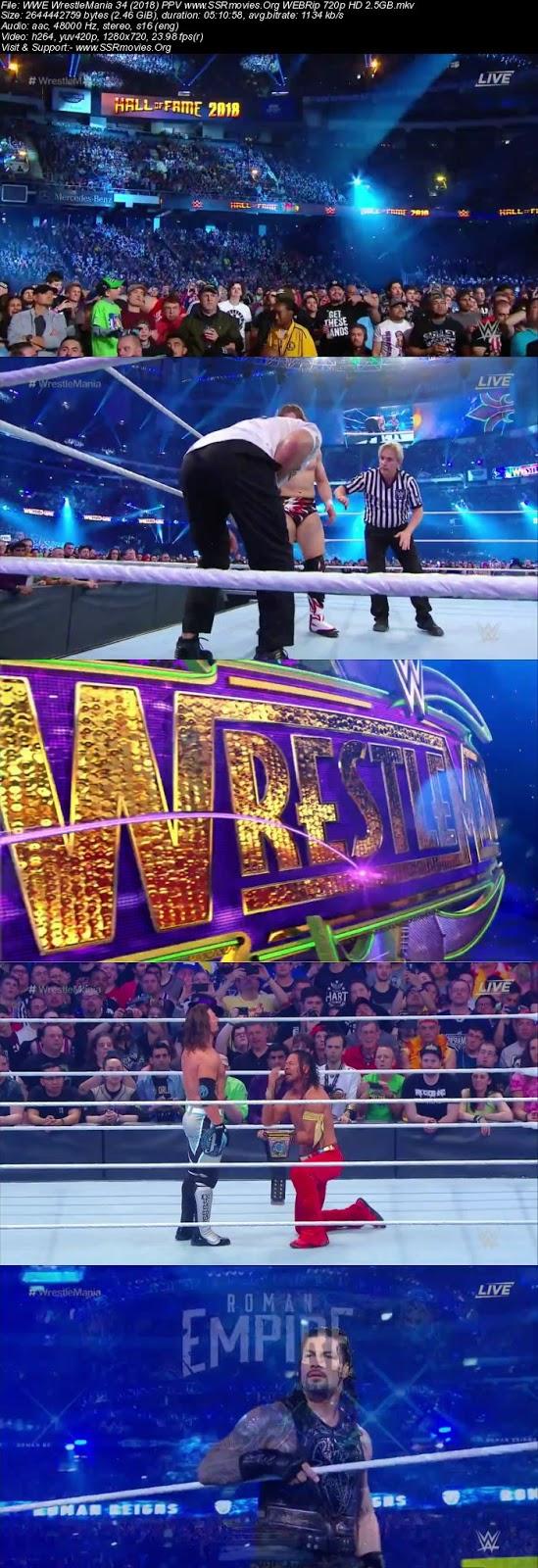 WWE WrestleMania 34 (2018) PPV 720p WEBRip