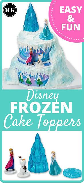 Miriam Kokolo Disney Frozen Theme Cake Toppers for a Kids Birthday