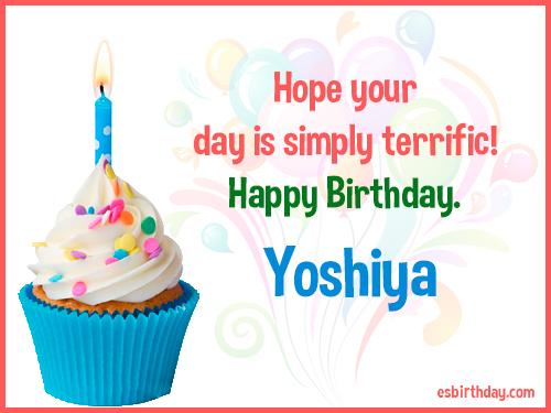 Yoshiya Happy birthday