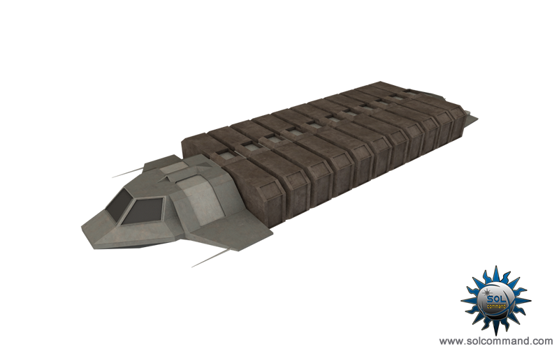 Xarian border transport ship 3d model free download solcommand design cargo space spaceship spacecraft hauler pods containers civilian border planet smuggler