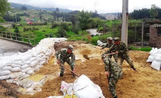 Ejército realiza acciones para prevenir desbordamientos del Río Chicamocha