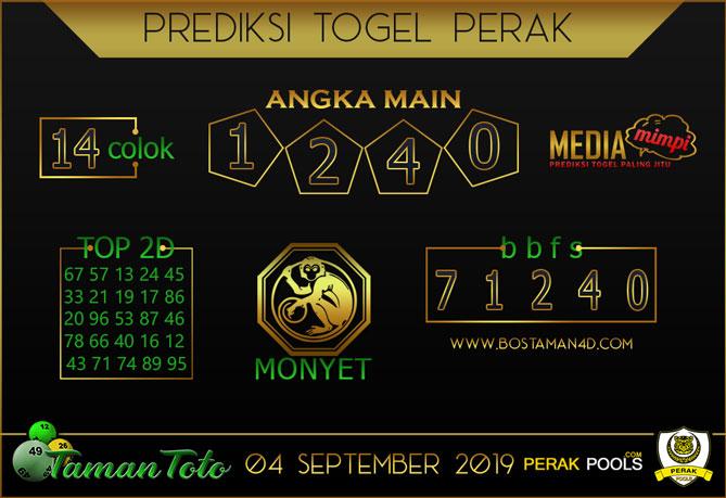 Prediksi Togel PERAK TAMAN TOTO 04 SEPTEMBER 2019