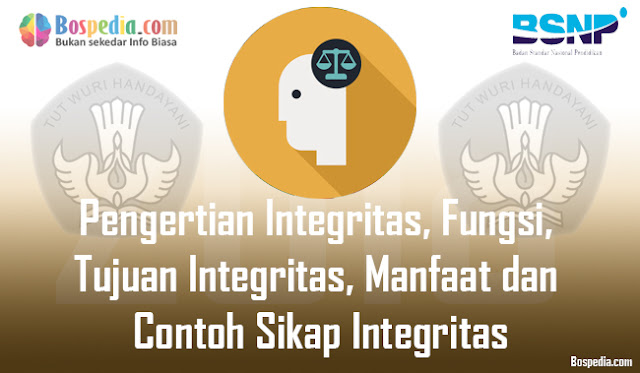 Pengertian Integritas, Fungsi, Tujuan Integritas, Manfaat dan Contoh Sikap Integritas
