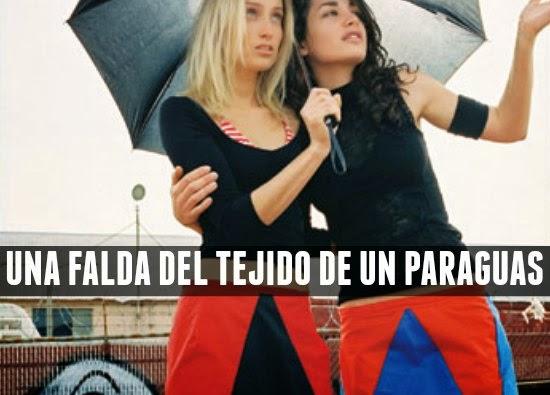 hacer una falda con la tela de un paraguas