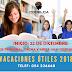 VACACIONES MUY ÚTILES 2018.