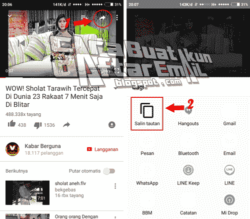 cara save video dari youtube ke galeri