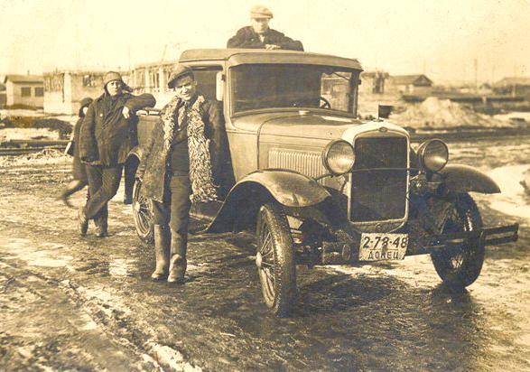 """Пикап ГАЗ-4, Краматорск. На номере надпись """"Донец""""."""