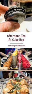champagne afternoon tea at Cake Boy