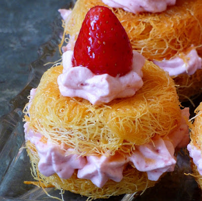Erdbeer Kunafa Strawberry Rezept Ramadan Ägypten