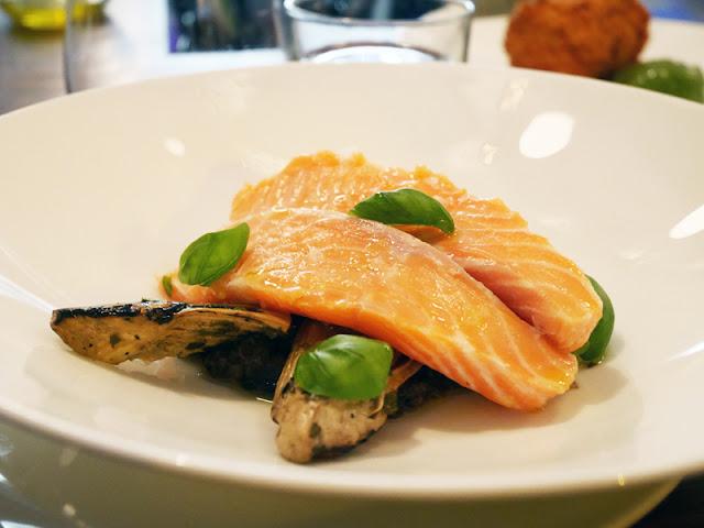 Cin Cin Brighton poached trout and artichokes dish