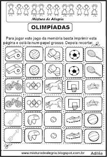 Atividades sobre a olimpíadas para colorir
