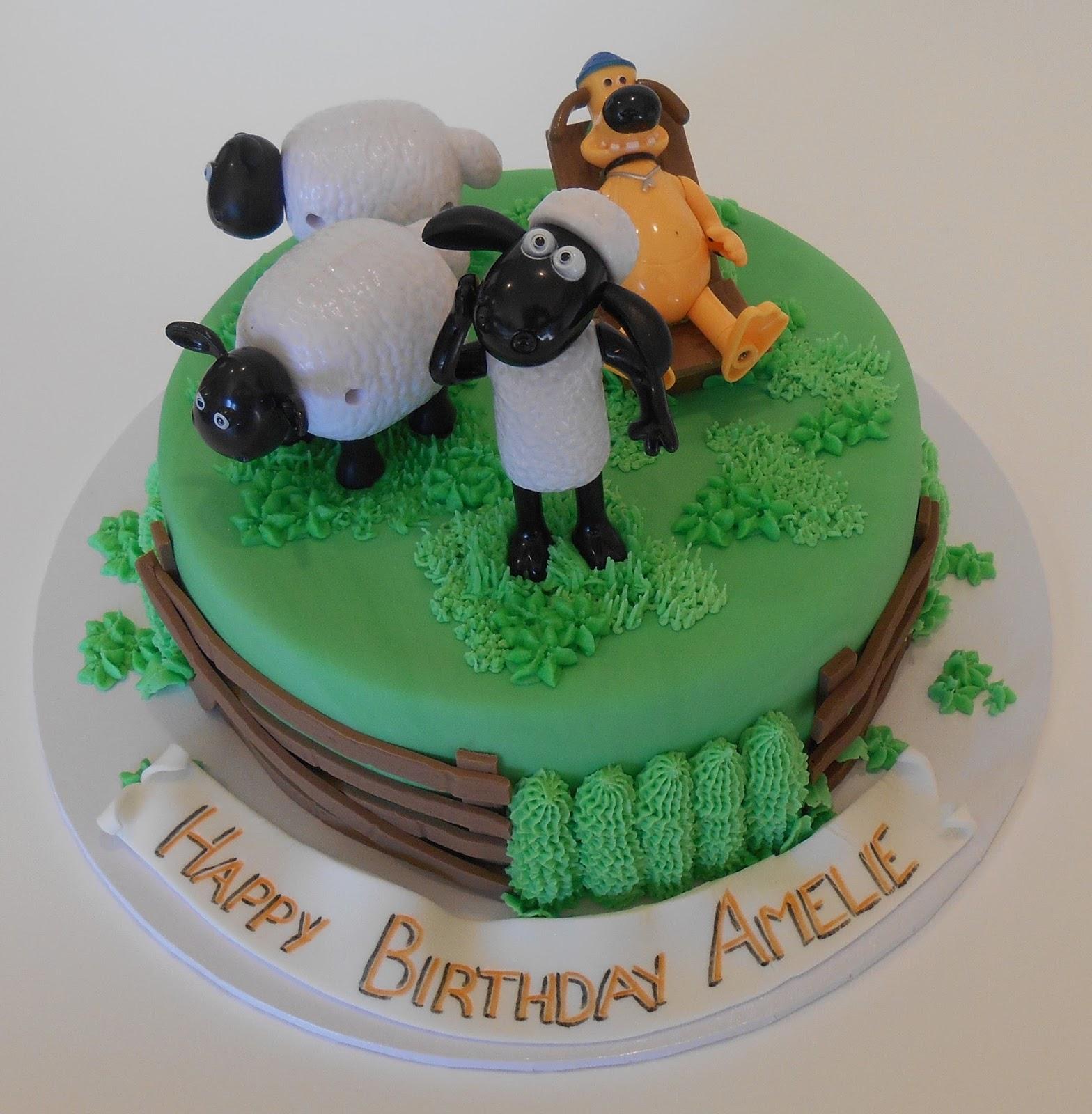 Nadas Cakes Shaun The Sheep Themed Birthday Cake By Nadas Cakes