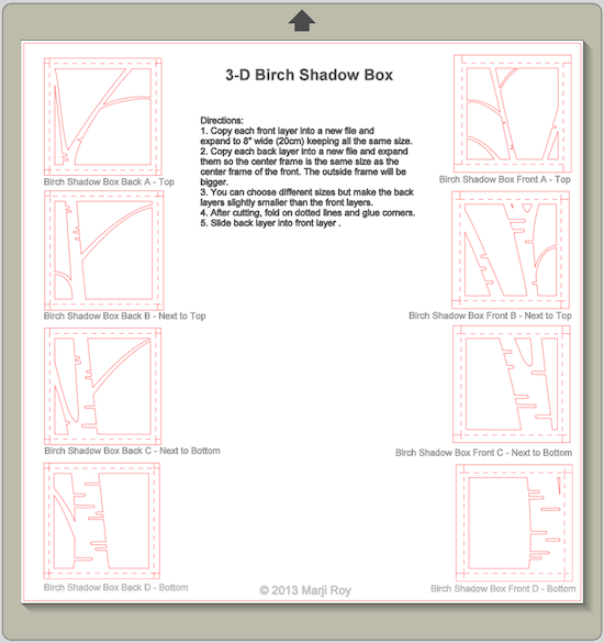 ashbee design silhouette projects 3 d shadow box birch tree tutorial. Black Bedroom Furniture Sets. Home Design Ideas