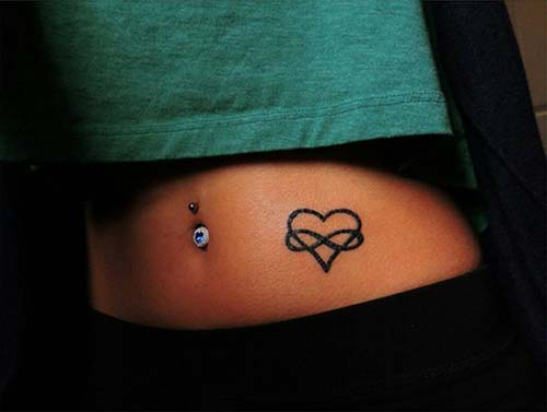 sonsuzluk ve kalp dövmesi infinity and heart tattoo