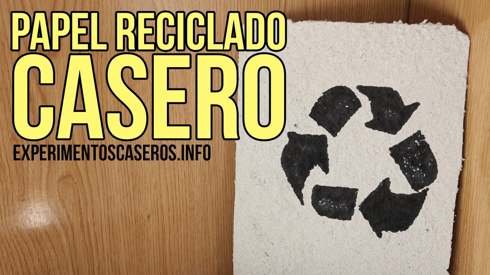 papel, reciclado, casero, ciencia, experimento