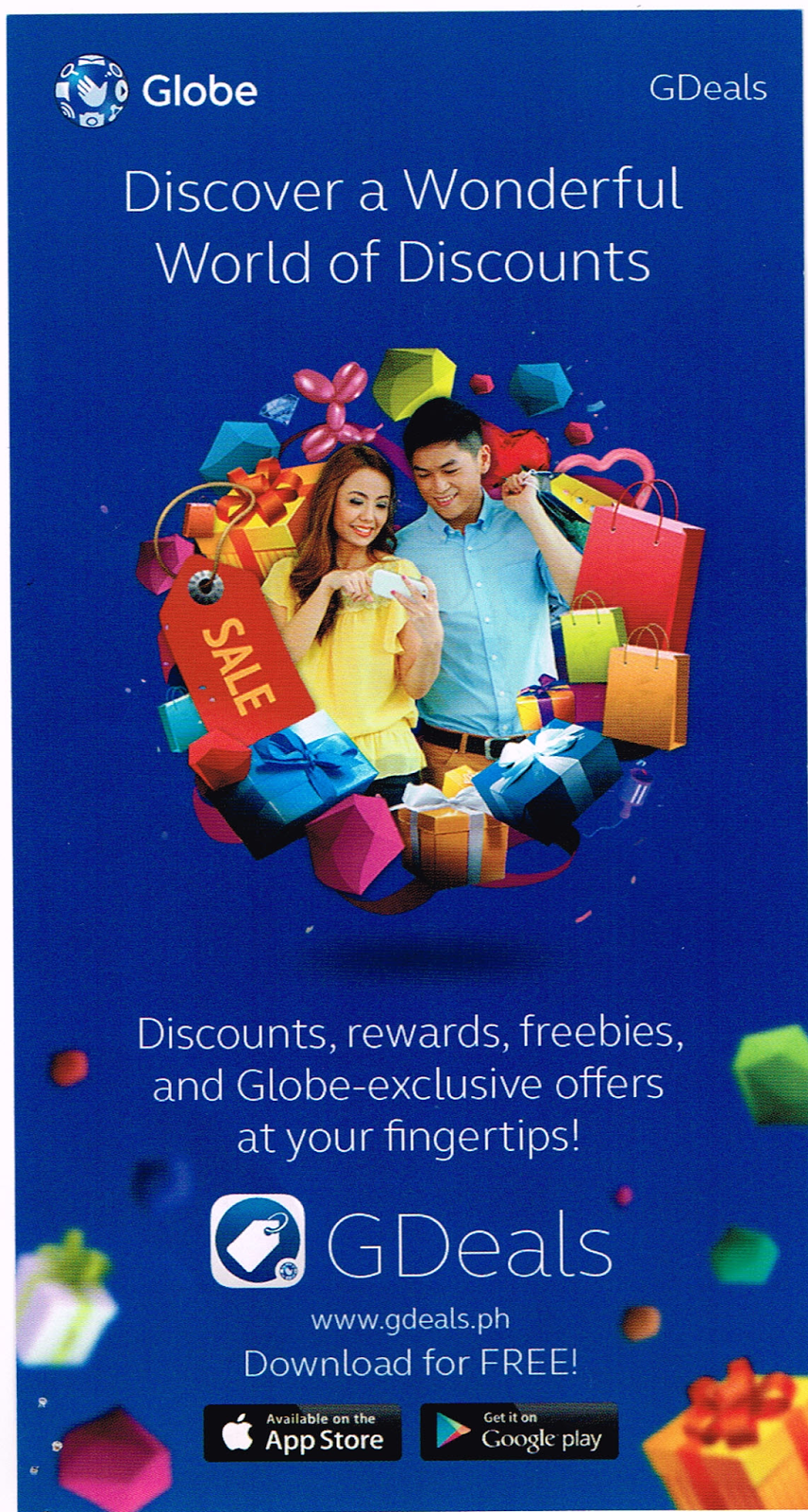 Globe: GDeals Discover a Wonderful World of Discounts!
